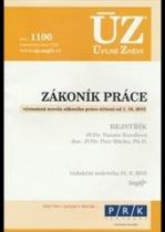 ÚZ č. 1100 - Zákoník práce, rejstřík