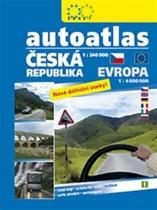 Autoatlas Česká republika 1:240 000 + Evropa 1:4 000 000