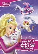 Barbie ve hvězdách - Vybarvuj, čti si, nalepuj