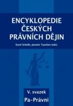 Encyklopedie českých právních dějin V., svazek Pa-Právni