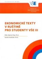 Ekonomické texty v ruštině pro studenty VŠE III