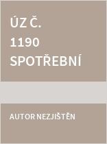 ÚZ č. 1190 Spotřební daně, líh, paliva
