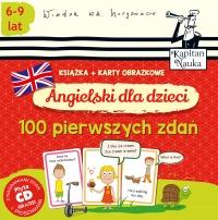Angielski dla dzieci. 100 pierwszych zdań (książka + karty obrazkowe)