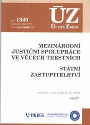 ÚZ č. 1340 Mezinárodní justiční spolupráce