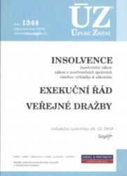 ÚZ č. 1344 - Insolvence, Exekuční řád, Veřejné dražby