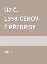 ÚZ č. 1358 Cenové předpisy 2020