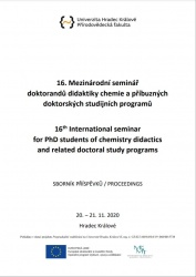 16. Mezinárodní seminář doktorandů didaktiky chemie a příbuzných doktorských studijních programů