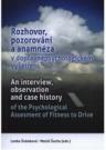 Rozhovor, pozorování a anamnéza v dopravněpsychologickém vyšetření